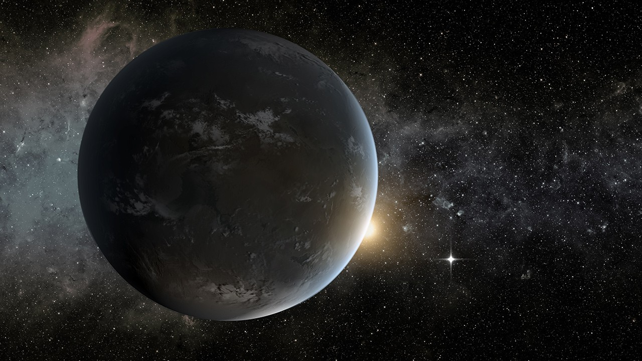 An artist's concept of the exoplanet Proxima Centauri b